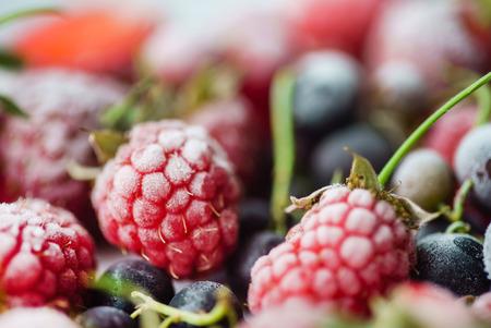 frozen berries closeup Фото со стока