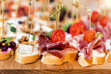 tapas on the catering table