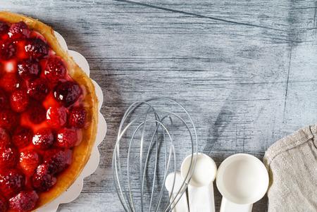 raspberry tart cake