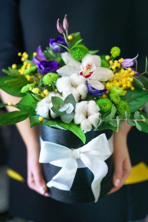 nice bouquet in the hands Reklamní fotografie - 97446474