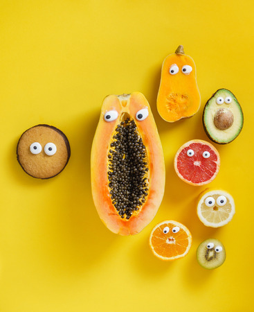 funny fruits and vegetables Standard-Bild - 97446607