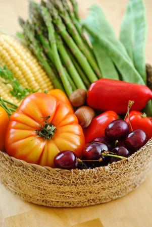 fresh vegetables in the basket Stockfoto
