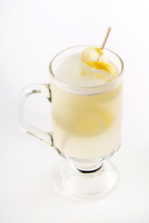 ginger tea on white