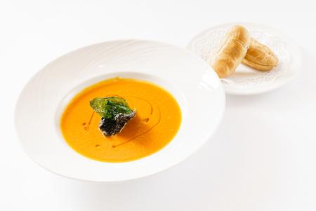 pumpkin cream soup Stockfoto