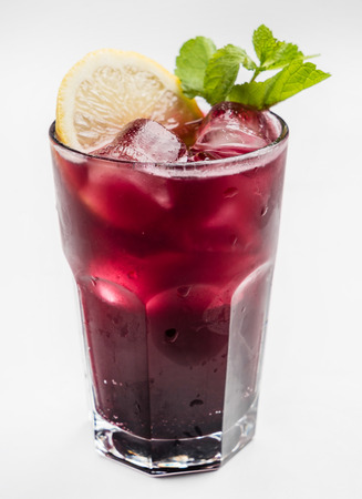 berry cocktail on white