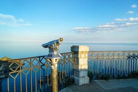 Sightseeing tourist binoculars