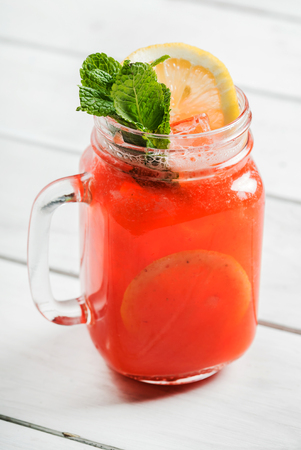 summer drink on white Stock Photo