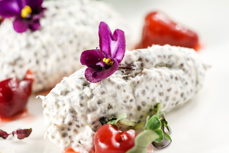 dessert with chia seeds