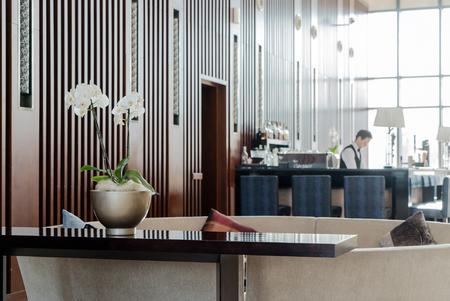 Interior of hotel reception  Stock Photo