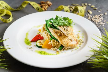 quiona with chicken fillet