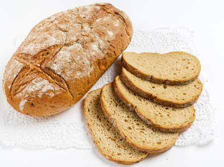 wholegrain bread on white