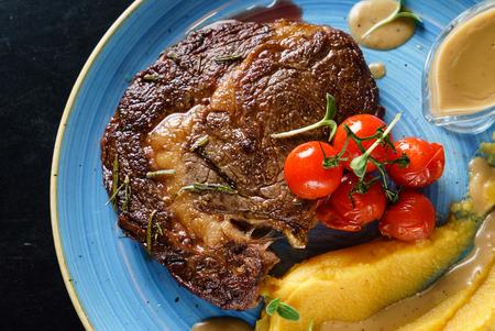 steak with sauce Stockfoto