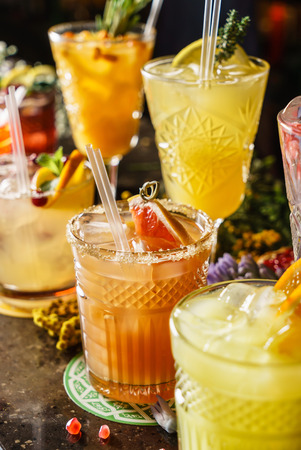cocktails in the bar Stock Photo