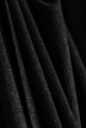 black curtain texture Archivio Fotografico - 100412303