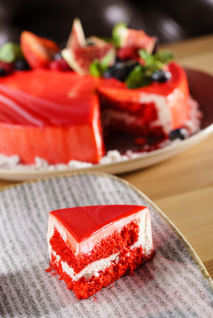 nice cake with berries