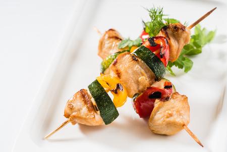 grilled chicken kebab Stock Photo - 100800439