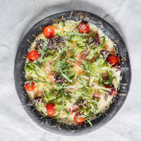 creative black pizza