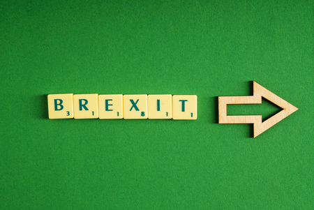 Minsk, Belarus - March 22, 2017: Scrabble Letters Spelling out Brexit