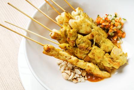 moo satay, chicken satay, thai cuisine Banco de Imagens
