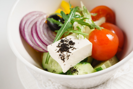 greek salad with feta 写真素材 - 101575758