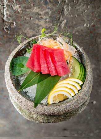 tuna sashimi on ice