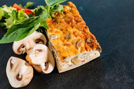 vegetable casserole  on black background