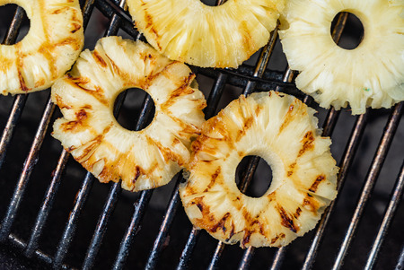 grilled pineapple closeup