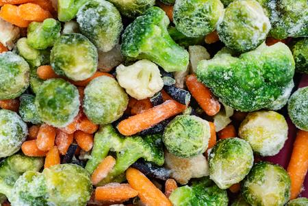 frozen vegetables closeup 写真素材