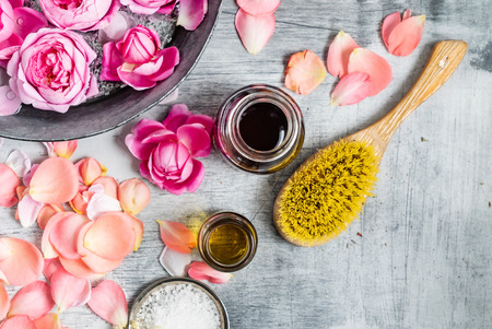 Spa treatment with flowers