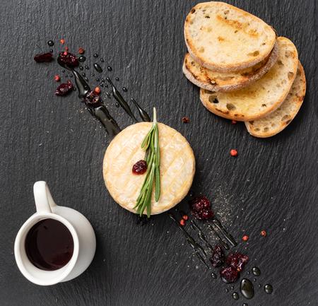 camembert with cranberry sauce Stock fotó