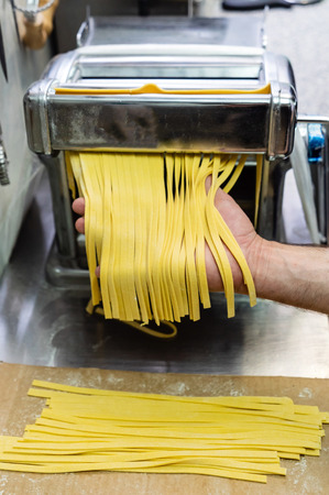 chef making pasta
