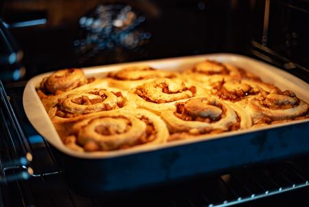 cinnamon rolls closeup