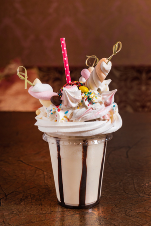 milkshake with marshmallow Reklamní fotografie