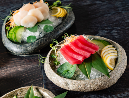 sashimi on table 스톡 콘텐츠 - 106721985