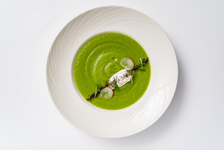 green cream soup Stock Photo