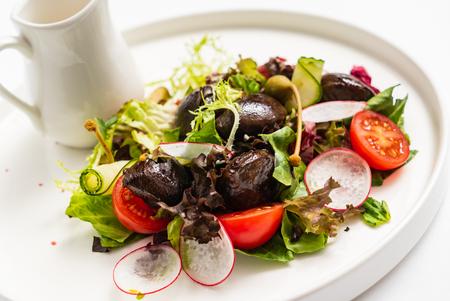 gourmet salad with dressing Stock fotó