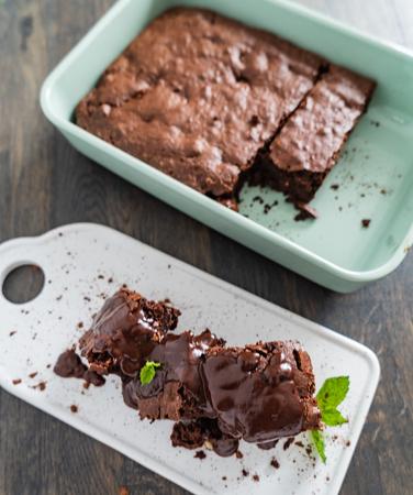 brownie with hazelnuts 스톡 콘텐츠