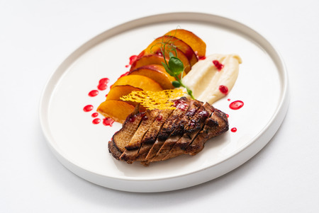 duck with celery puree