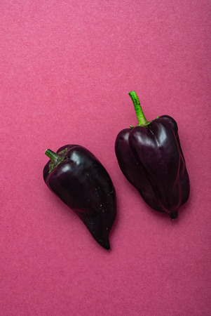fresh purple peppers