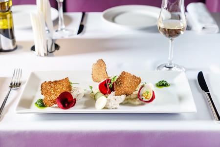 gourmet salad in the restaurant Zdjęcie Seryjne