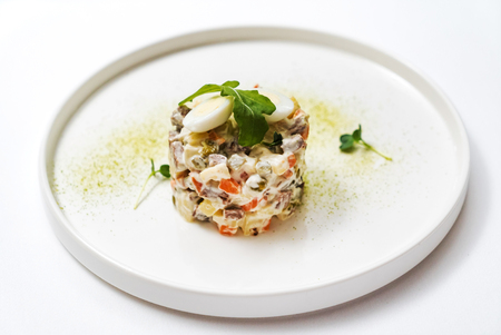 Russian salad with egg Stockfoto
