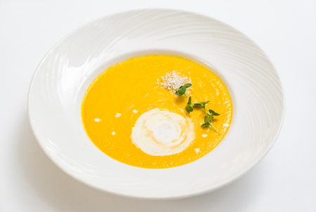 pumpkin cream soup Zdjęcie Seryjne - 108136122
