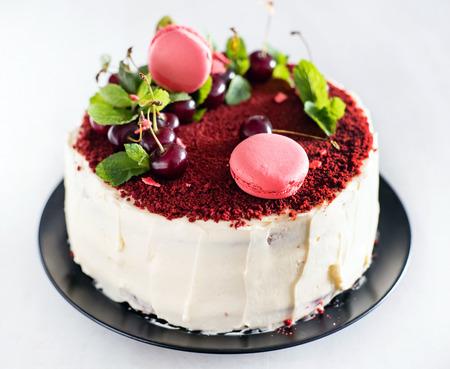 red velvet cake Standard-Bild