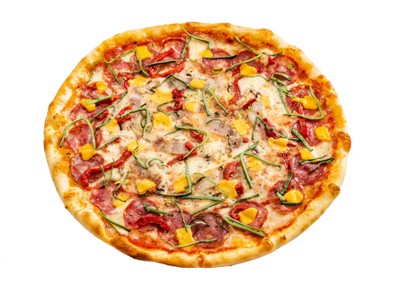 pizza with corn