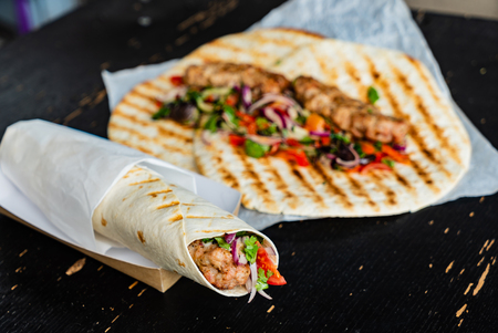 grilled tortilla wrap