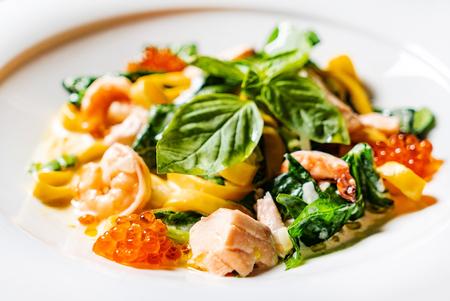 tasty seafood pasta