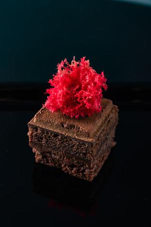 Brownie with dark chocolate
