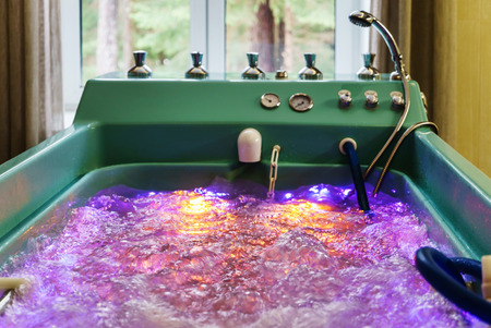 jacuzzi with swirling water