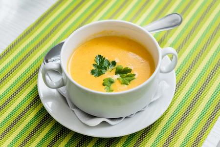 pumpkin cream soup 版權商用圖片