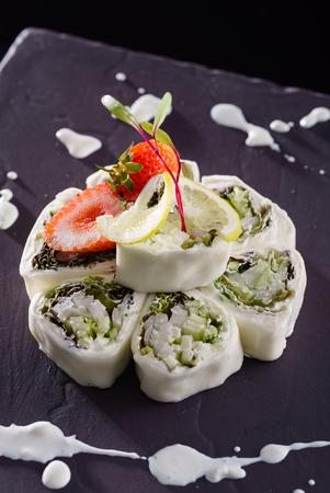 sushi wit strawberries 写真素材